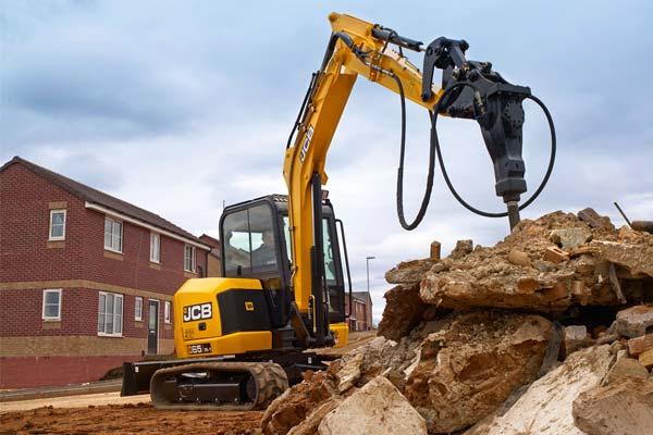 65R Mini Digger, 6 Ton Excavator